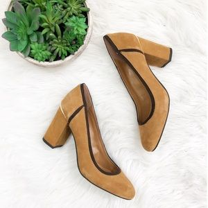 Tommy Hilfifer Emmie Tan & Brown Suede Pumps